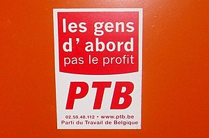 Workers' Party of Belgium - Workers Party of Belgium propaganda in Brussels, 2008