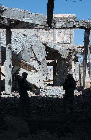 Tarnak Farms - Tarnak Farms still in ruins in 2005.