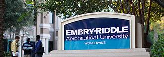 Embry–Riddle Aeronautical University - Sign Outside Worldwide Headquarters in Florida