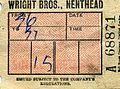 Wright Bros, Nenthead, Cumbria. Bellgraphic bus ticket, 1972 - Flickr - sludgegulper.jpg
