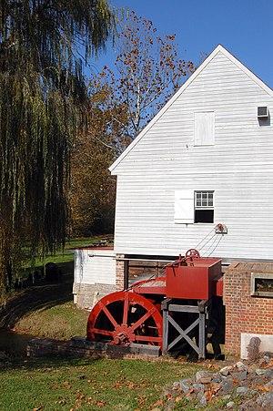 Wye Mill - The steel millwheel in November 2008