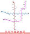 Xi'an Metro System Map.png