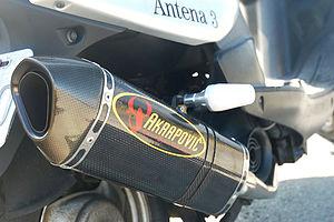 Akrapovič - Akrapovič exhaust on a Yamaha motorcycle