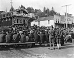 YMCA soldiers' band and song meeting at Newport, Oregon, on a Sunday (3492745170).jpg