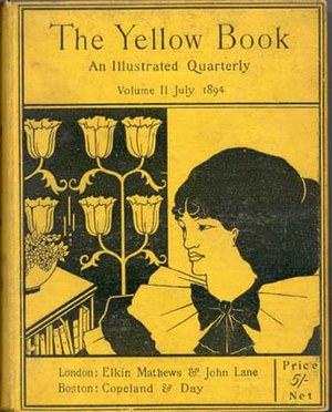 The cover of the Yellow Book periodical 1890s ...