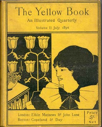 1894 in poetry - The Yellow Book, with a cover illustrated by Aubrey Beardsley.