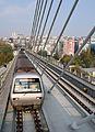 Yenikapi bound M2 Istanbul Metro at Haliç station.jpg