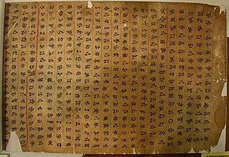 Yi script - A classical Yi manuscript.