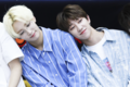 Yoon Jeong-han, Xu Minghao during a fan signing event in June 2017.png