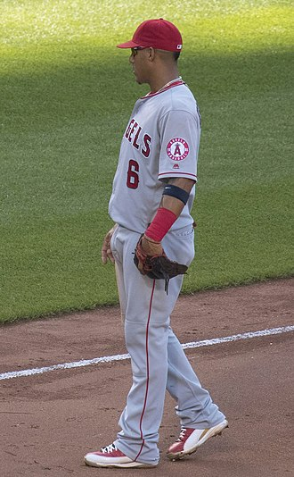 Yunel Escobar - Escobar with the Los Angeles Angels in 2016