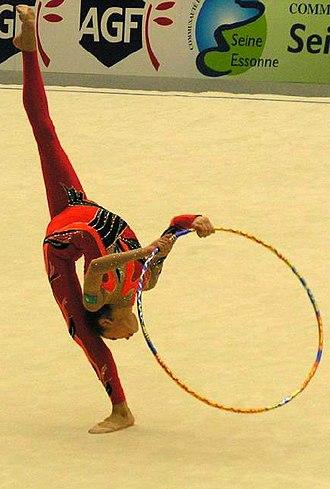 Rhythmic gymnastics - Aliya Yussupova with a hoop