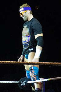 Zack Ryder na WWE Raw World Tour v Londýně, listopad 2011