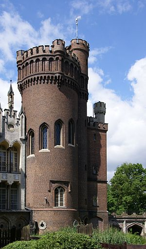Kórnik Castle - The Gothic Revival tower of the castle.