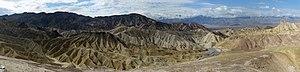 Zabriskie Point - Panoramic view from Zabriskie Point