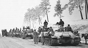 Zhitomir–Berdichev Offensive - Soviet T-34 tanks await orders to move forward