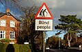 """Blind people"" sign, Belfast - geograph.org.uk - 1620906.jpg"
