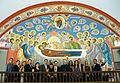 """Dormition of the Most Holy Birthgiver of God"" fresco on the western wall of the Cathedral, 2010.JPG"
