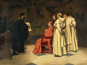 Gabriele Falloppio - Gabriel Falloppius explaining one of his discoveries to the Cardinal Duke of Ferrara