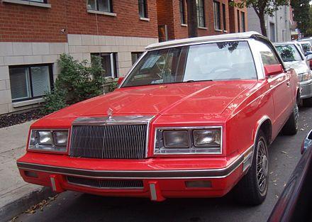 Chrysler lebaron wikiwand 19831984 chrysler lebaron convertible fandeluxe Image collections