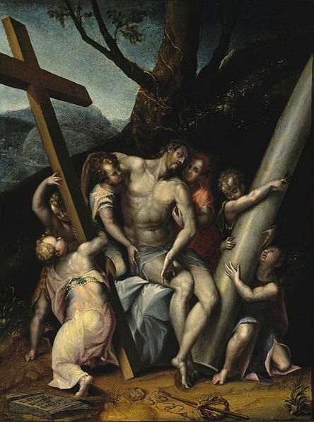File:'Christ with the Symbols of the Passion', oil on canvas painting by Lavinia Fontana, 1576, El Paso Museum of Art.jpg