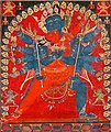 'Paramasukha Cakrasamvara' from Central Tibet circa 1400, distemper on cloth (cropped).jpg
