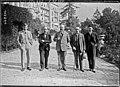 (De g. à d. Henri) Rolin, (Joseph de) Ruelle, Vandervelde, baron (Pierre van) Zuylen, (comte) Ferdinand du Chastel (délégation belge à Locarno, 7 octobre 1925) - (photographie de presse) - (Agence Rol).jpg