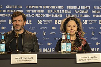 Àlex Brendemühl - Image: Àlex Brendemühl and Hanna Schygulla The Prayer Press Conference