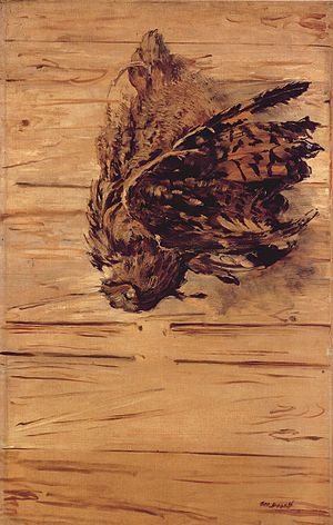 Dead Eagle Owl - Dead Eagle Owl Édouard Manet, 1881 97 × 64 cm Oil on canvas Foundation E.G. Bührle, Zurich