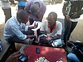 ̩400 Level students from the Faculty of Agriculture, University of Agriculture Makurdi, Nigeria interviewing rural farmers in their villages about about agricultural innovations.jpg