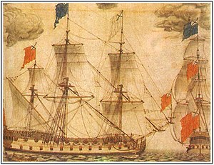 Russian ship of the line Goto Predestinatsia - Image: Акварель Бергмана
