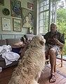 Александр Липницкий и его любимый пёс Тирекс (T-Rex).jpg