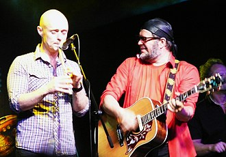 Brian Finnegan - Brian Finnegan with Boris Grebenshchikov at the Aquarium concert in Russia, 2012