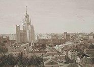 Московский вид с высоткой 120х80см2