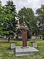 Паметникът на Св. Патриарх Евтимий в селото, открит през 2019 г.jpg