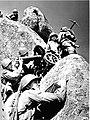 Советские пулеметчики старшего сержанта М.И. Глухих меняют позицию в Карпатских горах.jpg