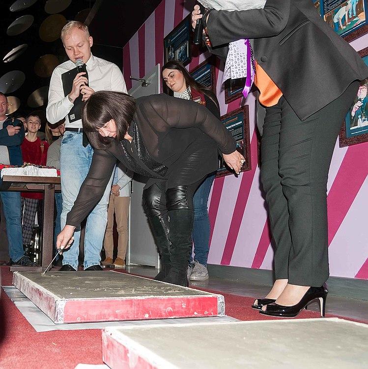 Церемония закладки звезды Мохи Кандур и Ларисы Лужиной 03.jpg