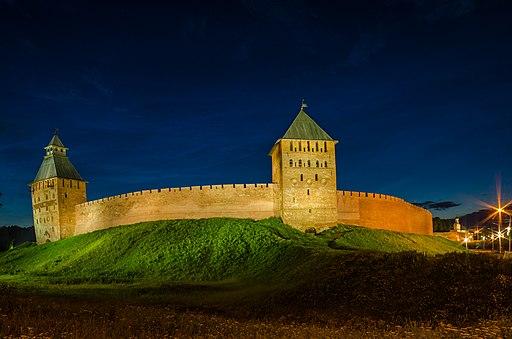 Южный участок стены Новгородского кремля