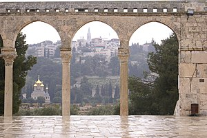 Al-Mawazin - Image: כנסיית מריה מגדלנה במבט מהר הבית