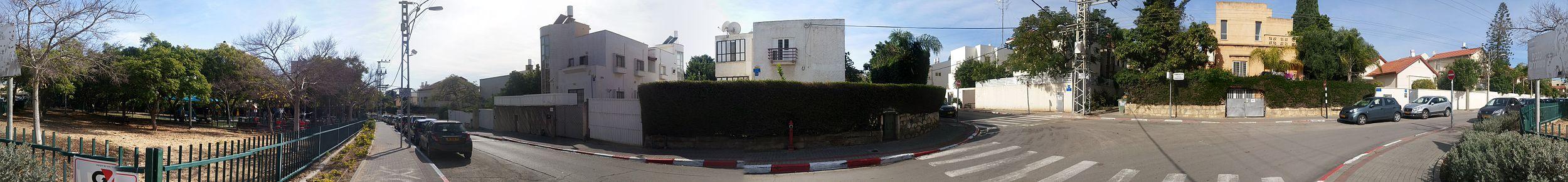 צומת הרחובות אשכנזי וטורקוב בשיכון דן