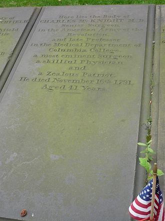 Charles McKnight - McKnight's grave marker.