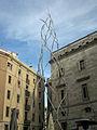 01 Plaça Sant Miquel, monument als Castellers.jpg