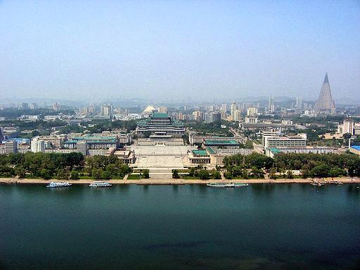 0322 Pyongyang Turm der Juche Idee Aussicht