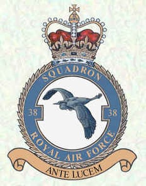 No. 38 Squadron RAF - 38 Squadron crest. A heron volant.