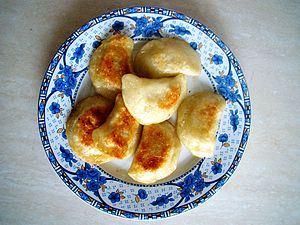 Pierogi - With their name derived from a root meaning 'festival', here is a plate full of traditional Christmas Eve pierogi.