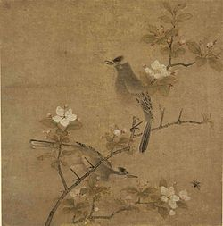 10 Style of Qian Xuan. Flowers and Birds, first half of the 14th Century, Cleveland MOA.jpg