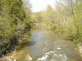 Fourteen Mile Creek - Image: 14creek upstream