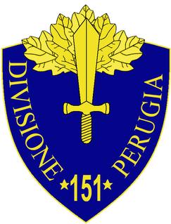 151st Infantry Division Perugia