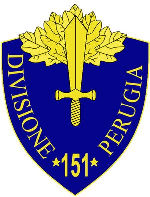 151st Infantry Division Perugia - 151st Infantry Division Perugia Insignia