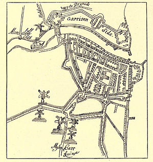 Fortifications of Kingston upon Hull - Image: 1668, Map of Hull, Joseph Osborne