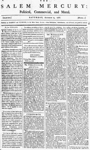 Salem Gazette - Salem Mercury, 1786